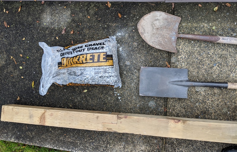 fence post in gravel tools and materials