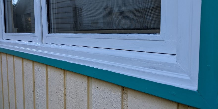 wooden window exterior paint
