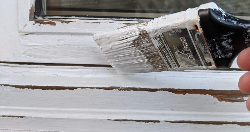 painting primer on window trim