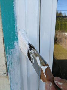 painting window trim exterior