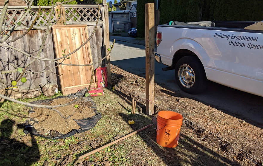 setting fence posts in concrete