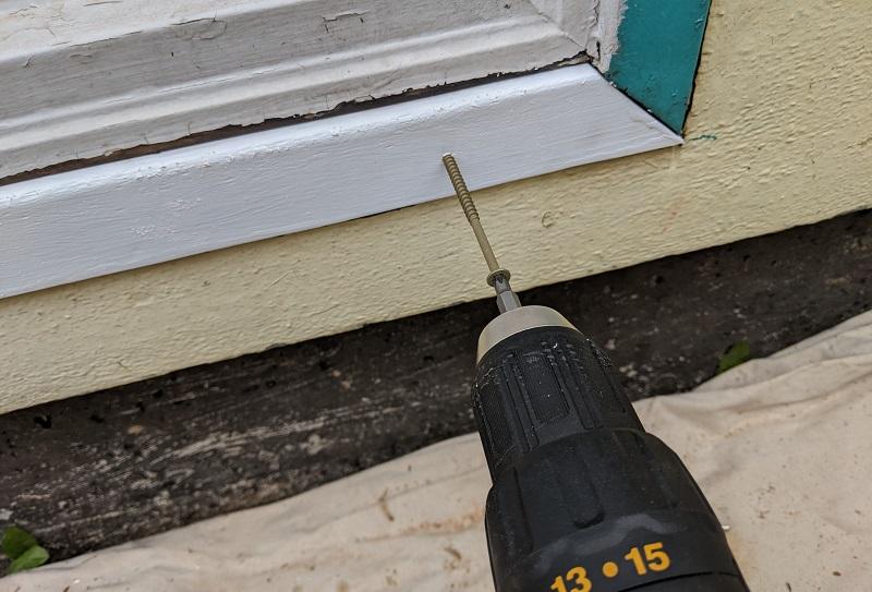 fastening replacement wood trim