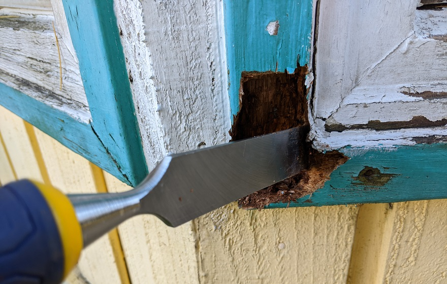 how to replace rotted wood around windows