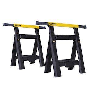 stanley adjustable sawhorses twin pack