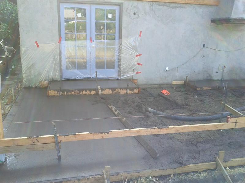 concrete slab under construction