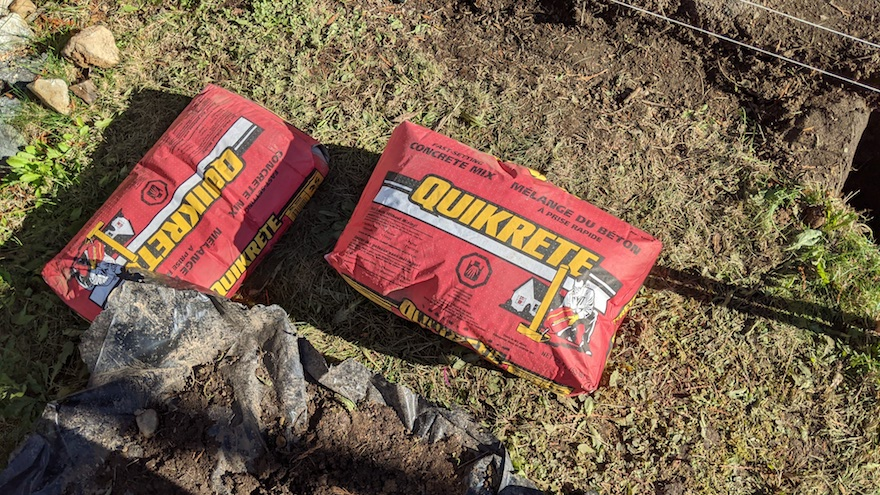 quikrete fast setting mix bags