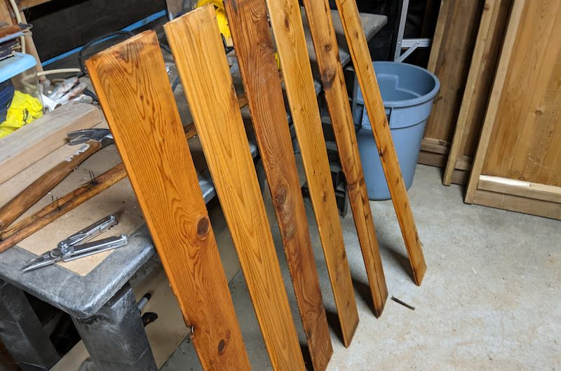 excess wood boards from fence