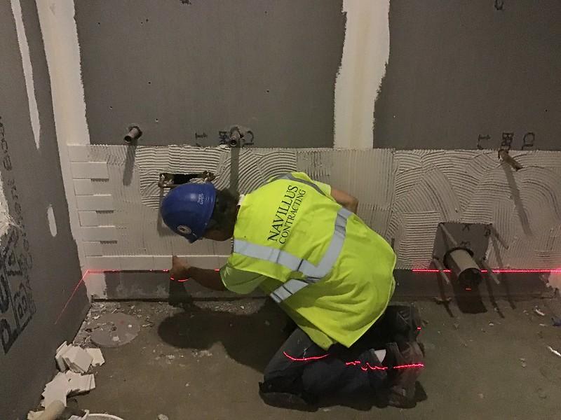 thinset mortar installation