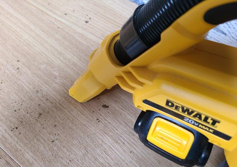 dewalt vacuum cleaning dirt