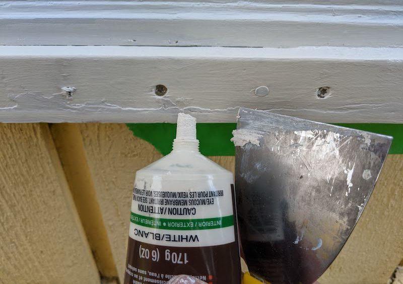 wood filler nail holes