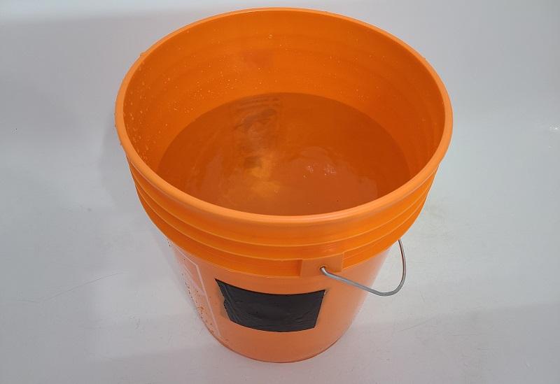 bucket with flex tape repair
