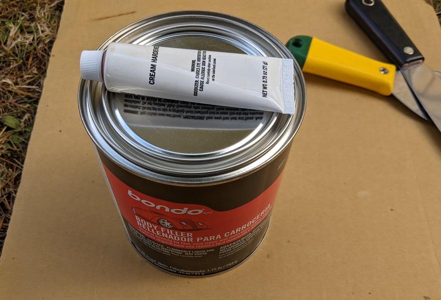 can of bondo body filler