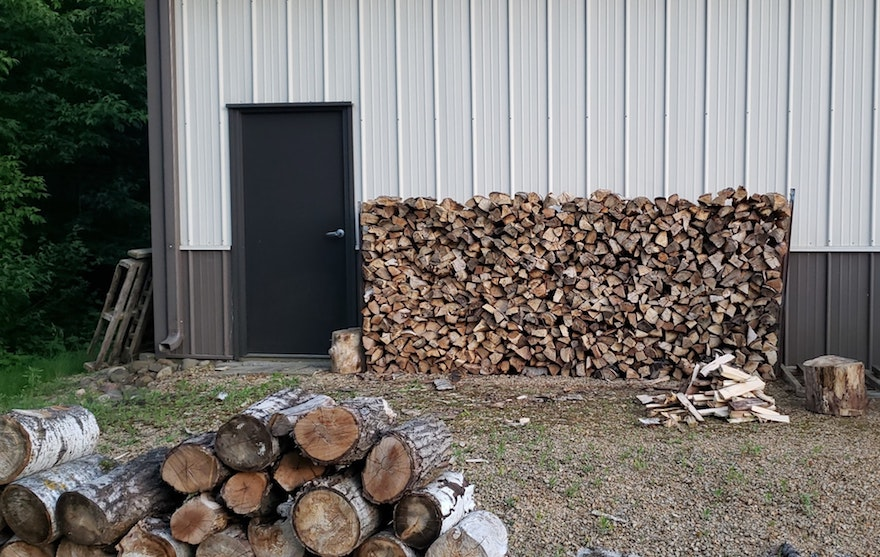 stack of firewood outdoors
