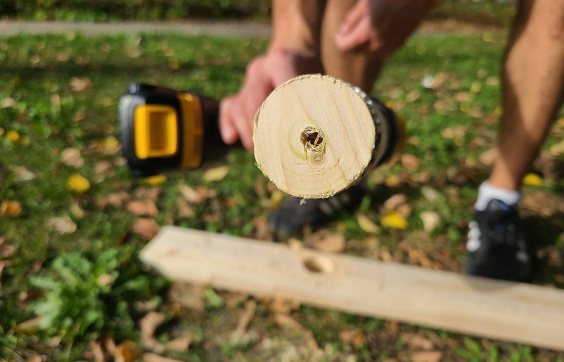 wood plug in hole saw